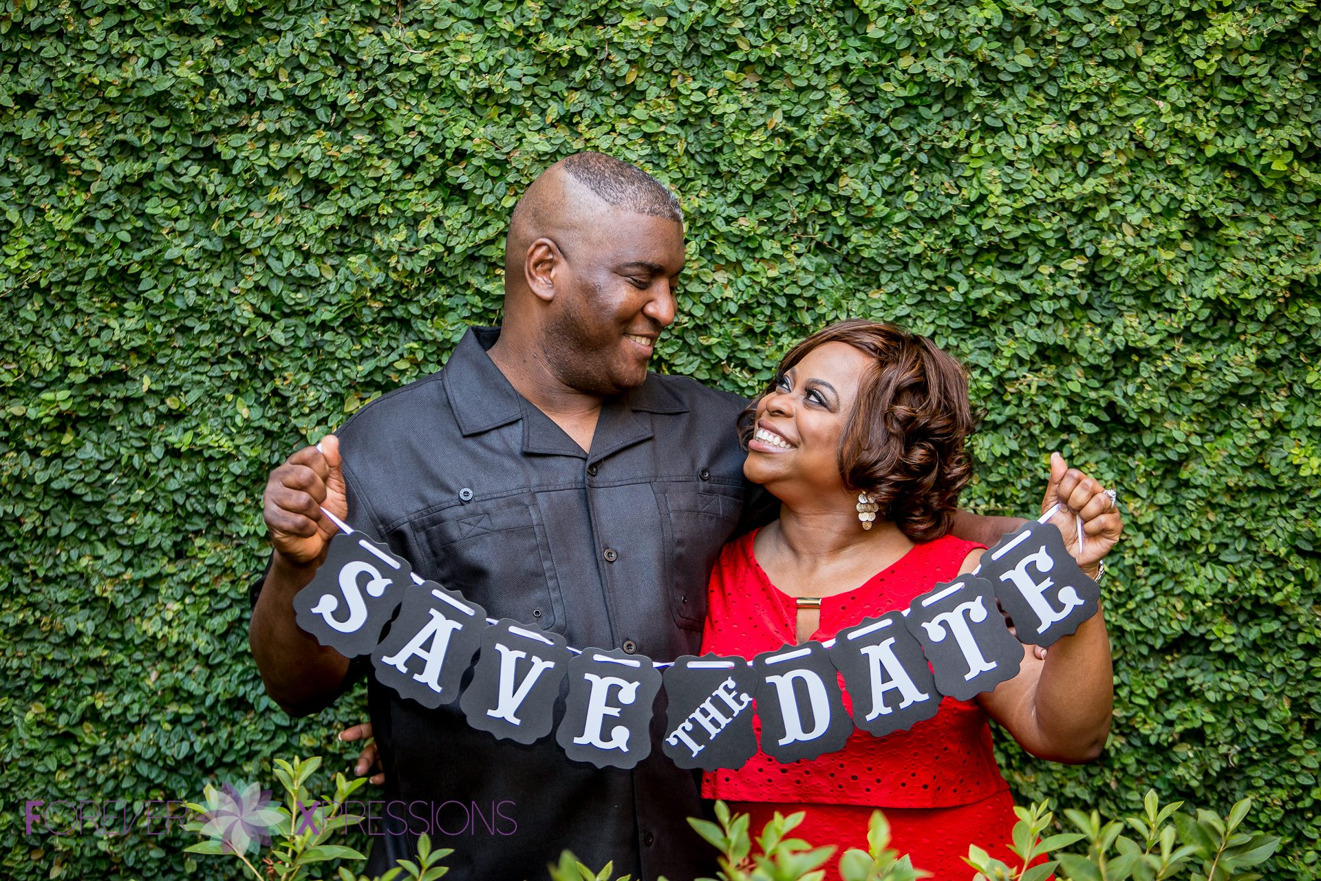Engagement session at Rollins College Save the Date.